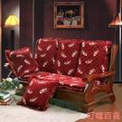 椅墊 可拆洗實木沙發墊防滑加厚海綿坐墊三...