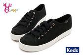 Keds KICKSTART 帆布鞋 女款 森林刺繡綁帶休閒鞋 I9803#黑色◆OSOME奧森童鞋