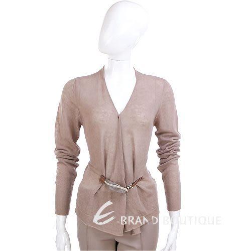 FABIANA FILIPPI 可可色釦飾針織外套 1220025-07