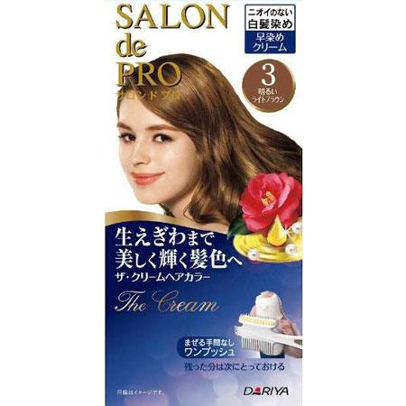 ★極品世界★Dariya 沙龍級白髮專用快速染髮霜 3淺棕(NG包裝)