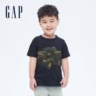 Gap男幼童 布萊納系列 純棉童趣圓領短袖T恤 681413-藏青色