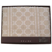 CELINE經典立體mini BLASON LOGO萬用柔棉蓋毯禮盒(駝色)084109