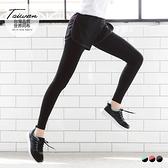 《KS0137》台灣品質.世界同布~假兩件式撞色短褲X內搭褲.3色 OrangeBear