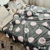 毛毯 加厚珊瑚絨毯子單人學生宿舍保暖床單冬季法蘭絨毯雙人空調毯 KB8974【野之旅】