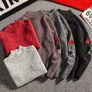 小高領玫瑰刺繡針織衫/毛衣 5色 M-2XL碼【CM65209】