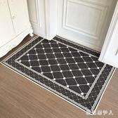 防滑墊 簡歐入戶門墊進門地墊家用門口地毯門廳腳墊客廳臥室 AW4041【棉花糖伊人】