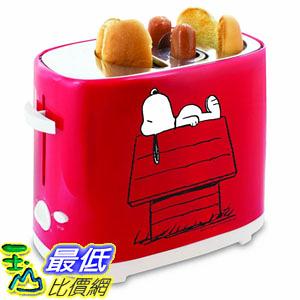 [8美國直購] 烤麵包機 Smart Planet HDT‐1S Peanuts Snoopy Hot Dog Toaster, Red B00O58DGSG