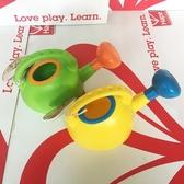 hape兒童水壺戲水玩沙灘玩具2-6歲男女孩寶寶洗澡灑水玩具黃 綠色