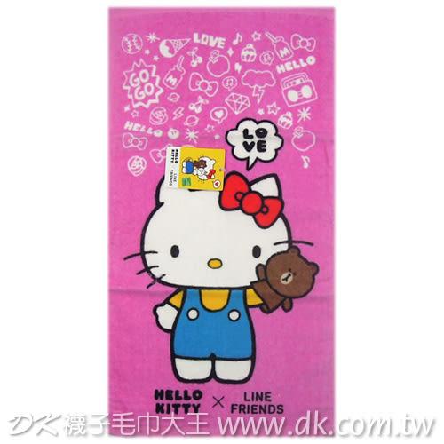 Kitty&Line打招呼童巾 ~DK襪子毛巾大王