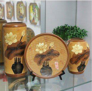 現代時尚陶瓷擺件三件