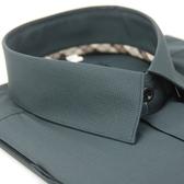 【金‧安德森】經典格紋繞領黑底黑細格吸排短袖襯衫