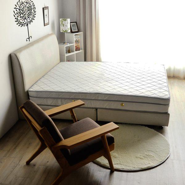 日式透氣三線3M防潑水5尺雙人獨立筒床墊(偏軟)/H&D東稻家居
