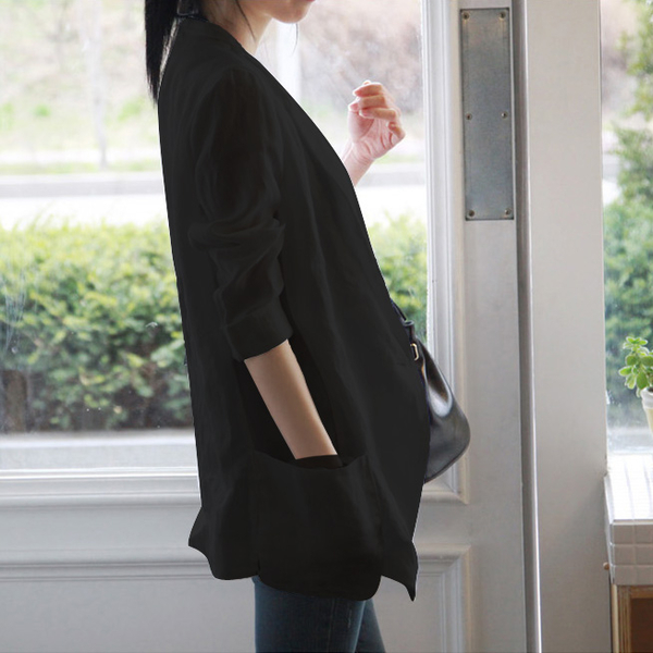 棉麻西裝 亞麻小西裝女外套薄款春夏顯瘦棉麻西服正韓寬鬆休閒風女-Ballet朵朵