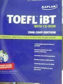 【書寶二手書T3/語言學習_QEJ】TOEFL IBT-2008-2009_有光碟