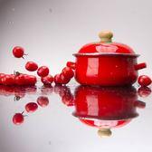 日式18cm 1.5L 琺瑯搪瓷西紅柿湯鍋含保鮮蓋燃氣電磁爐通用xx10883【歐爸生活館】TW