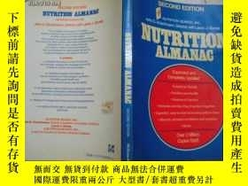二手書博民逛書店NUTRITION罕見ALMANAC,SECOND EDITIO