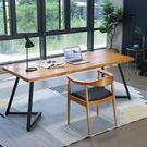電腦桌 實木電腦桌台式辦公桌北歐風簡易寫字台臥室簡約現代書桌家用桌子 LX