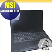 【Ezstick】MSI Summit B15 A11 靜電式筆電LCD液晶螢幕貼 (可選鏡面或霧面)
