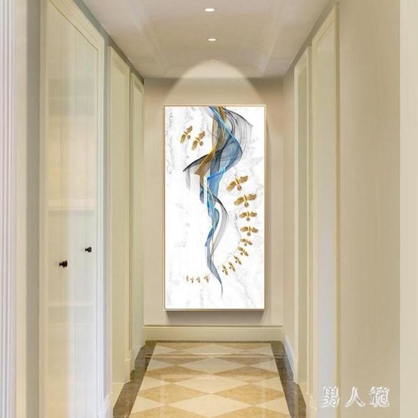 醉夢卿顏百鳥圖玄關裝飾畫豎版招財風水走廊過道掛畫抽象簡約壁畫 PA12553『男人範』