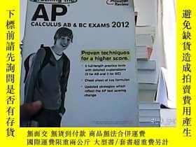 二手書博民逛書店Cracking罕見the AP Calculus AB BC Exams- 20Princeton Review