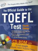 【書寶二手書T1/語言學習_WGN】The Official Guide to the Toefl Test_ETS_附光碟