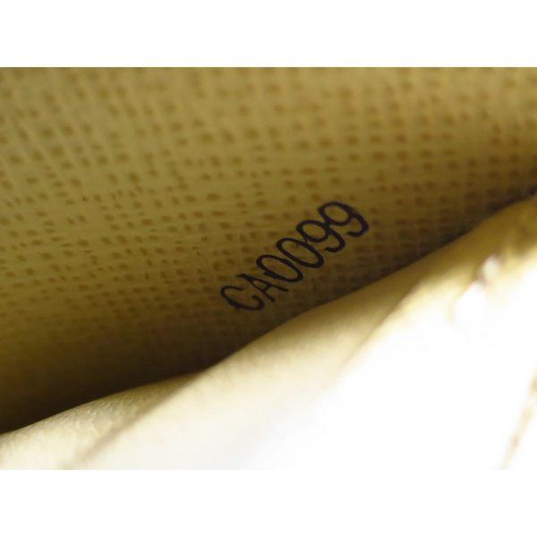 LV LOUIS VUITTON 路易威登 白棋盤格ㄇ字型拉鍊長夾 N60019【BRAND OFF】