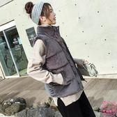 棉背心外套女短款秋冬韓版百搭學生坎肩潮外套面包服加厚羽絨棉衣馬夾【萬聖節88折