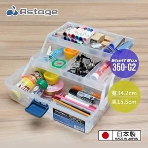 日本  Astage Shelf Box 多功能2層收納箱 350-G2型