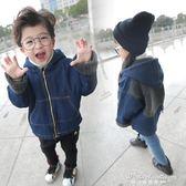 男童加絨牛仔外套2017新款寶寶冬裝加厚棉衣兒童秋冬韓版衛衣棉襖·蒂小屋