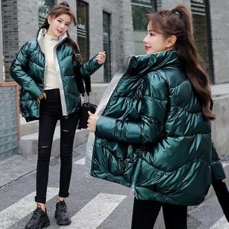 短款羽絨服 面包服外套亮面羽絨棉服2021秋冬新款加厚ins短款寬鬆棉衣女 艾維朵
