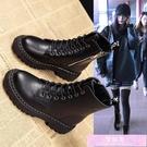馬丁靴女新款英倫風百搭加絨機車靴黑色冬季潮ins街頭酷短靴 裝飾界
