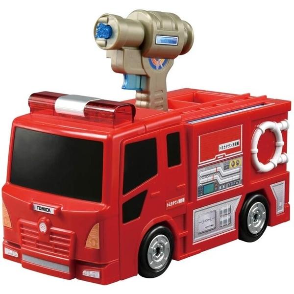 小禮堂 Tomica多美小汽車 變形消防局基地 (紅盒) 4904810-17084