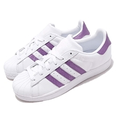 【六折特賣】adidas 休閒鞋 Superstar W 白 紫 貝殼頭 女鞋 經典百搭款 運動鞋【ACS】 EE9152