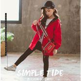女童秋裝外套10兒童韓版12歲15大童洋氣女孩春秋季風衣潮 至簡元素