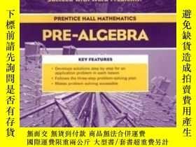 二手書博民逛書店Prentice罕見Hall Pre-algebra: Guided Problem Solving Workbo