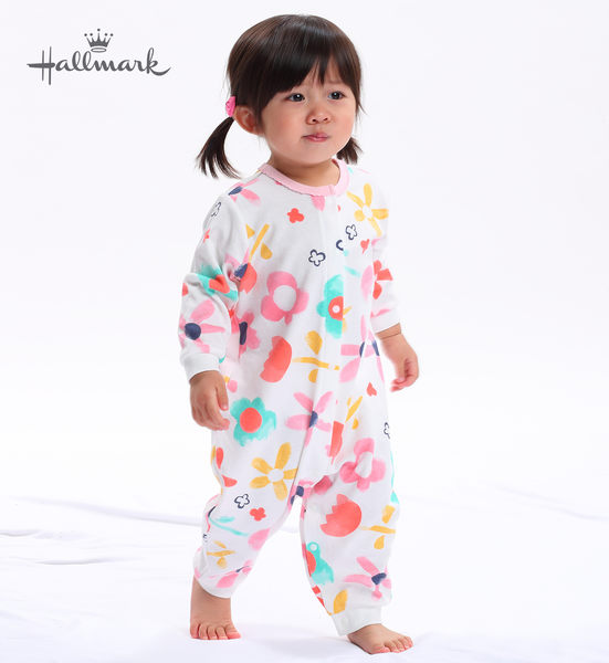 Hallmark Babies 花花世界春夏女嬰長袖連身衣(兩件裝) HH1F0514BGMR