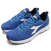 DIADORA 慢跑鞋 Swan 2 藍 白 輕跑鞋 透氣網布 吸震 EVA中底 輕量避震 運動鞋 男鞋【PUMP306】 DA174036C3484