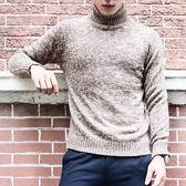毛衣男 秋冬毛衣保暖加厚套頭高領時尚大碼純色男針織衫套頭衫【非凡上品】cx5754