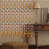 萬聖節大促銷 蘇菲亞水晶門簾珠簾隔斷玄關客廳成品簾五彩葫蘆衛生間風水簾子