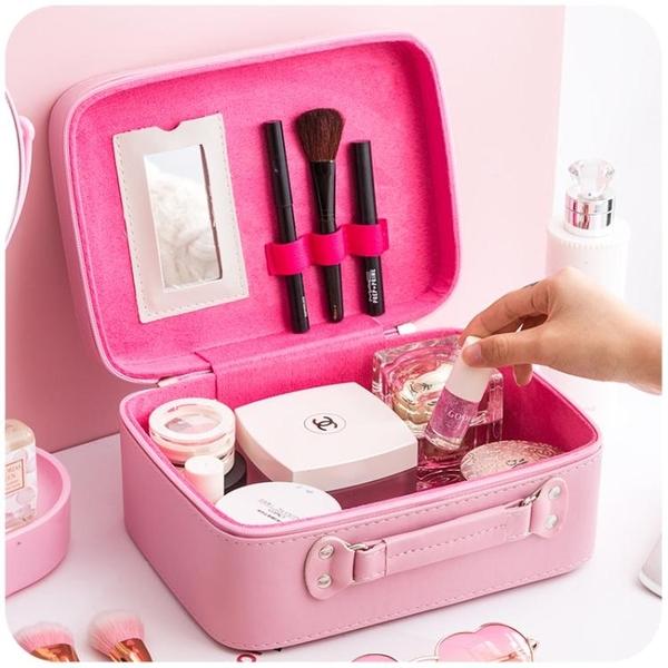 化妆包—化妝包小號便攜韓國簡約可愛少女心大容量多功能品包收納盒箱手提 依夏嚴選