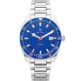 Olym Pianus奧柏表 經典豪情石英腕錶-藍