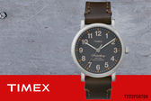 【時間道 】〔TIMEX。天美時〕簡約數字刻度金框腕錶-灰黑面咖啡皮(T2P58700/TXT2P58700)免運費