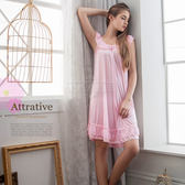 大尺碼睡衣 ~Annabery粉嫩清甜微露香肩柔緞 緞面睡衣 女性衣著 爆款《SV6173》HappyLife