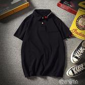 夏季半袖刺繡Polo衫男士加肥大碼寬鬆短袖T恤韓版潮男裝 港仔會社