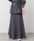 衛衣材質 迷嬉裙 長裙 內刷毛A字裙 USA美國棉  日本品牌【coen】