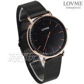 LOVME 原廠公司貨 簡約米蘭輕薄時尚腕錶 男錶 防水手錶 黑x玫瑰金 VM0012M-43-341【時間玩家】