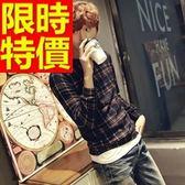 長袖毛衣-美麗諾羊毛保暖英倫風套頭男針織衫1色63t98[巴黎精品]