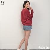 [新品]-大學T-不起毛-厚棉長袖圓領上衣-暗紅-女版 (尺碼S-2XL) [Wawa Yu品牌服飾]