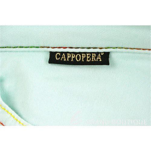 CAPPOPERA 綠色多彩車線長褲 0620105-08