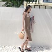 新款沙灘裙性感chic中長款度假吊帶裙子
